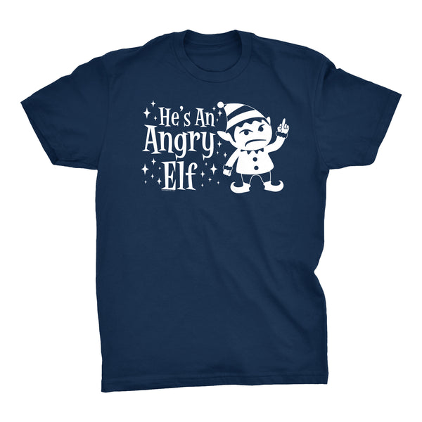 He's An ANGRY Elf - 003 - Ugly Christmas Sweater Party-T-Shirt