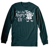 He's An ANGRY Elf - 003 - Ugly Christmas Sweater Party-LongSleeve