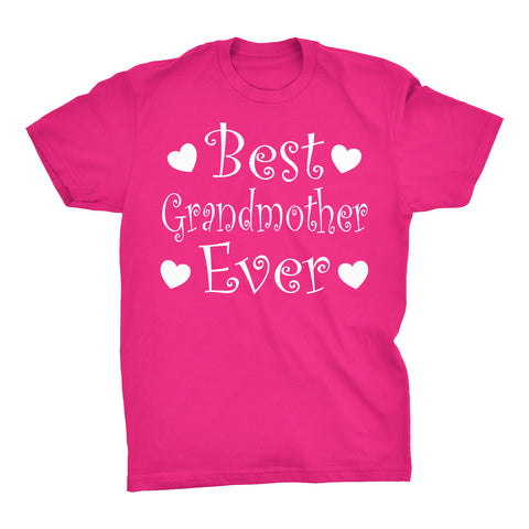 Best GRANDMOTHER Ever - Hearts 001 - Mother's Day Grandma T-shirt