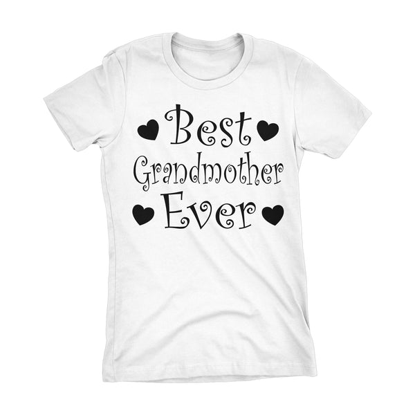 Best GRANDMOTHER Ever - Hearts 001LDS - Mother's Day Grandma Ladies Fit T-shirt