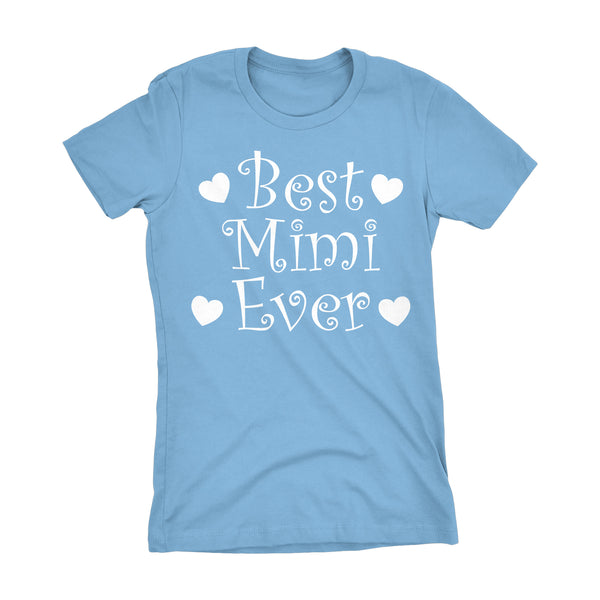 Best MIMI Ever - Hearts 001LDS - Mother's Day Grandmother Ladies Fit T-shirt