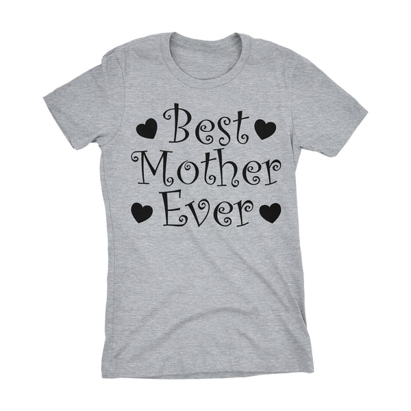 Best MOTHER Ever - Hearts 001LDS - Mother's Day Mom Ladies Fit T-shirt