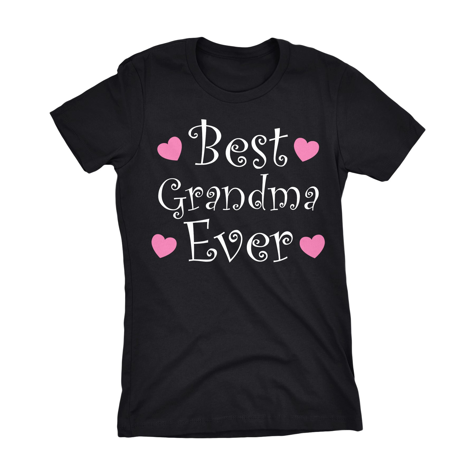 Best GRANDMA Ever - Hearts 002LDS - Mother's Day Grandmother Ladies Fit T-shirt
