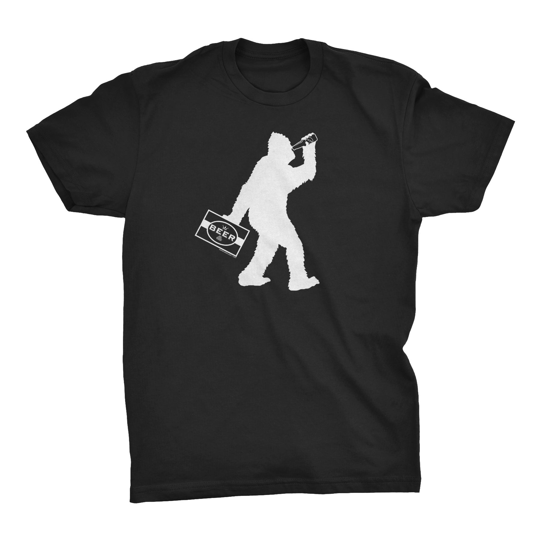 ShirtInvaders Bigfoot Beer Chug - Funny Sasquatch T-shirt