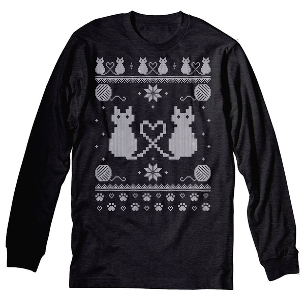 Cat Sweater - Christmas Sweater Party - Long Sleeve