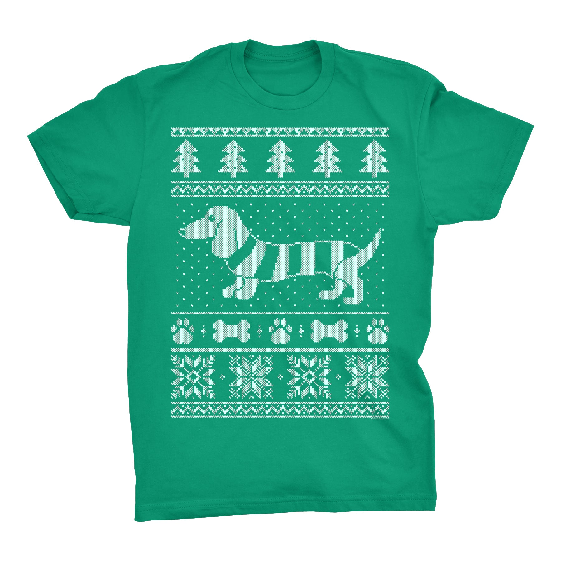 Dachshund Sweater 001 - Weenie Dog Christmas Sweater Party - T-Shirt