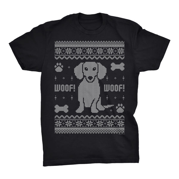 Dachshund Sweater 002 - Weenie Dog Christmas Sweater Party - T-Shirt