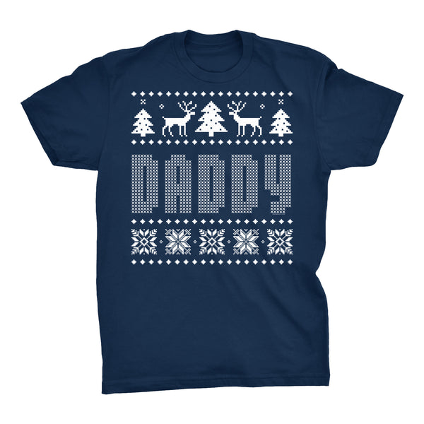 DADDY - Dad Christmas Sweater Style Gift-T-Shirt