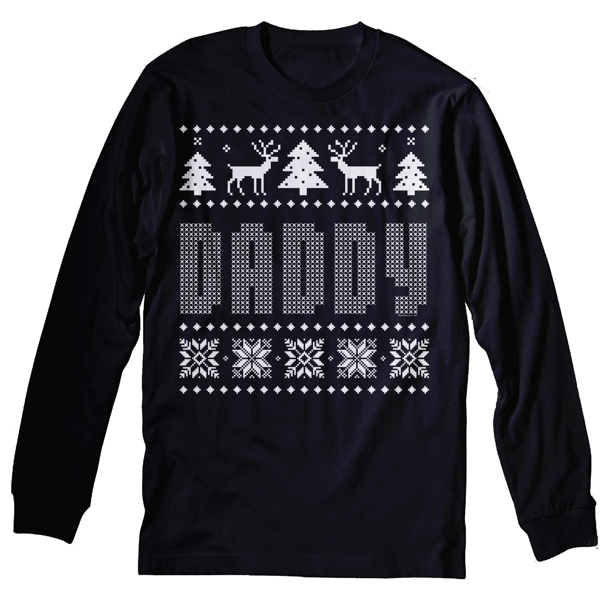 DADDY - Dad Christmas Sweater Style Gift-Long Sleeve