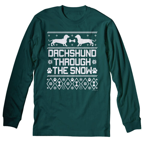 Dachshund Through The Snow - Christmas Long Sleeve Shirt