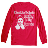 I Just Like To Smile, Smiling Is My Favorite - FACE - Christmas-Long Sleeve