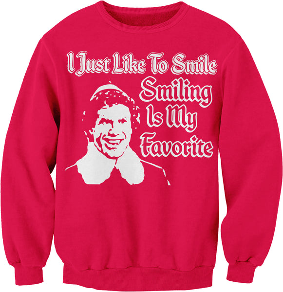 I Just Like To Smile, Smiling Is My Favorite - FACE - Christmas-Sweat Shirt