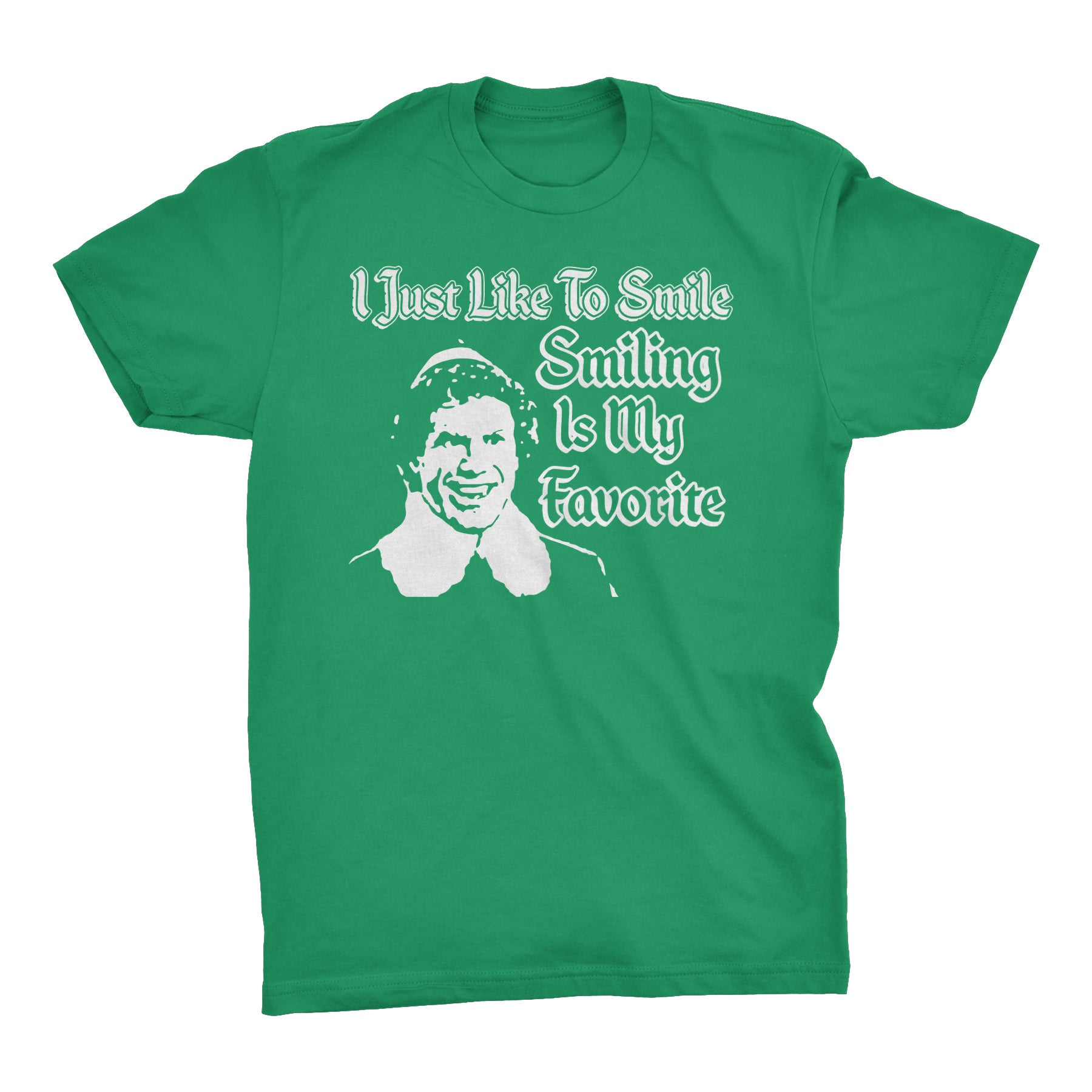 I Just Like To Smile, Smiling Is My Favorite - FACE - Christmas-T-Shirt