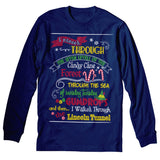 Elf Map - Christmas Long Sleeve Shirt