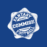 Fantasy Football Commish - SEAL -  Distressed Print Funny T-Shirt