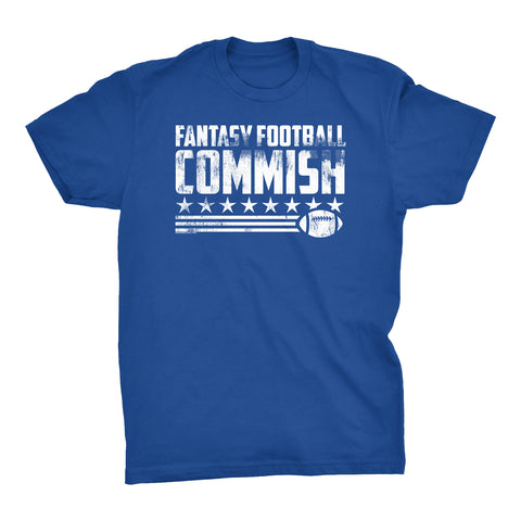 Fantasy Football Commish - FLAG -  Distressed Print Funny T-Shirt