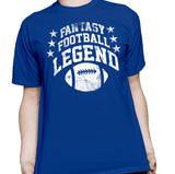 Fantasy Football Legend - ARCHED -  Distressed Print T-Shirt