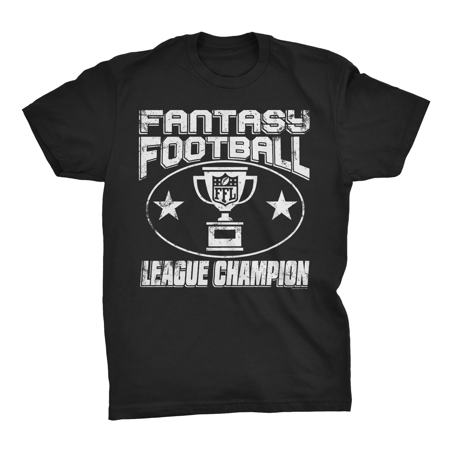 Fantasy Football League Champion -  Distressed Print Funny Sports T-Shirt