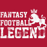Fantasy Football Legend - LION -  Distressed Print T-Shirt