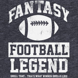 Fantasy Football Legend - SQUARE -  Distressed Print T-Shirt
