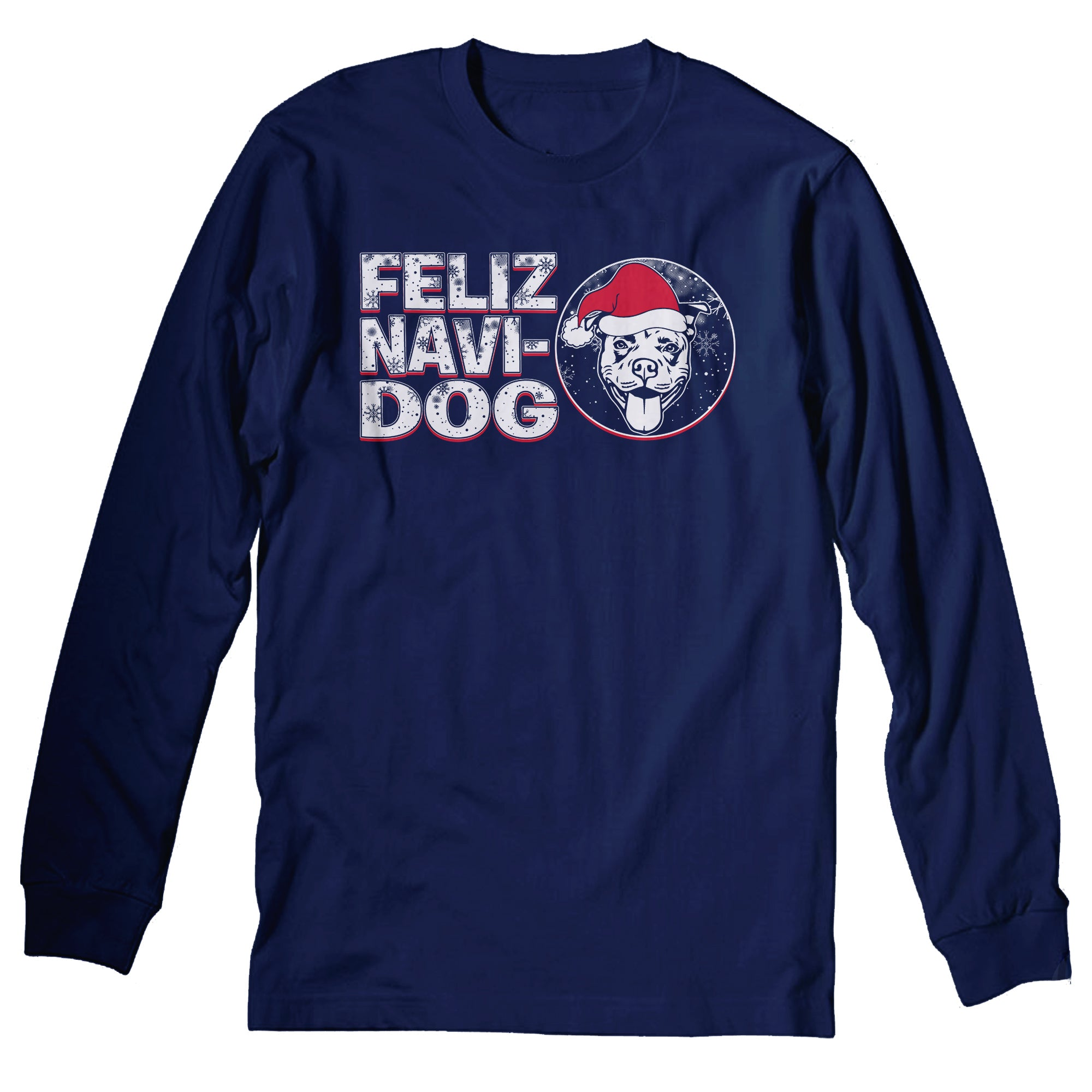 Feliz Navi Dog 002 - Christmas Long Sleeve Shirt
