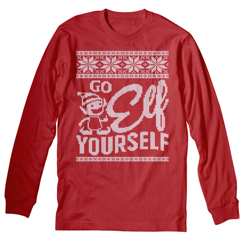 Go Elf Yourself - Christmas Long Sleeve Shirt