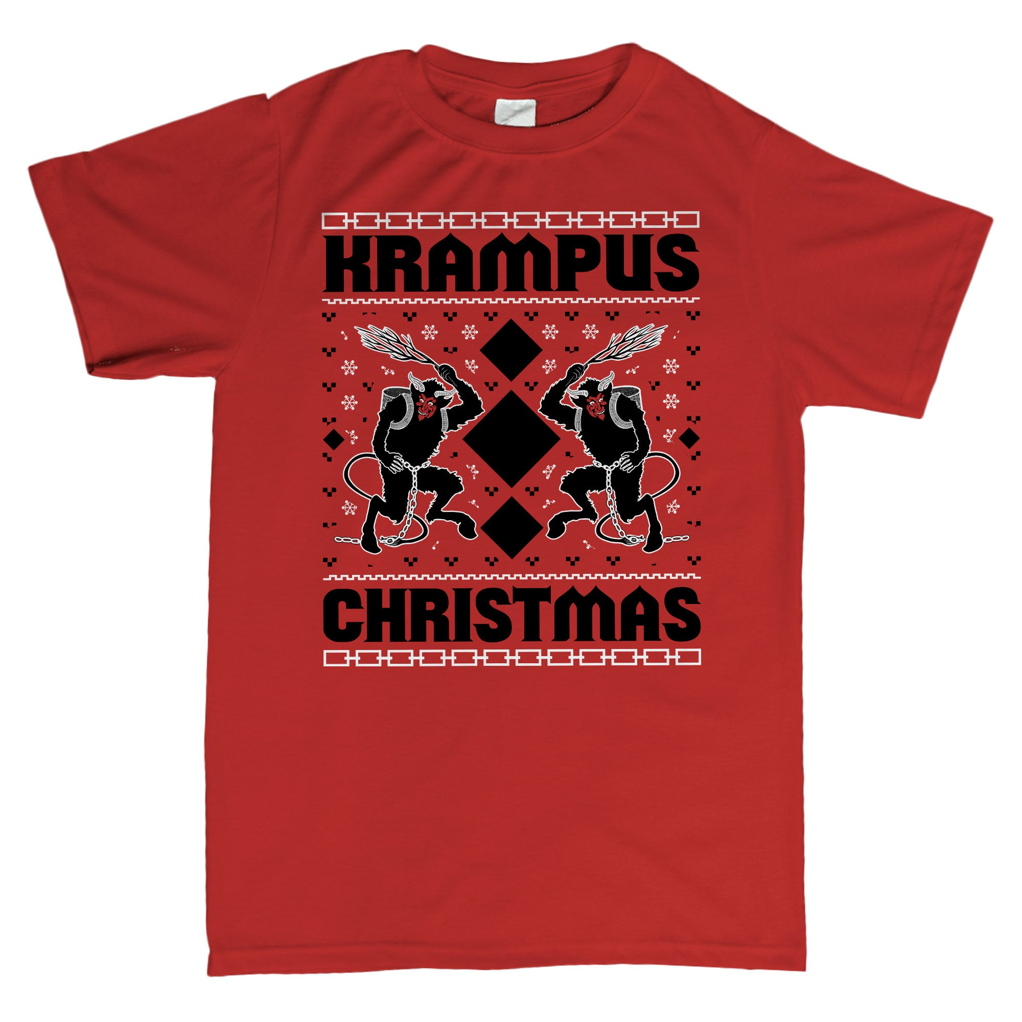 Krampus Christmas - Ugly Christmas Sweater Party Style-T-Shirt