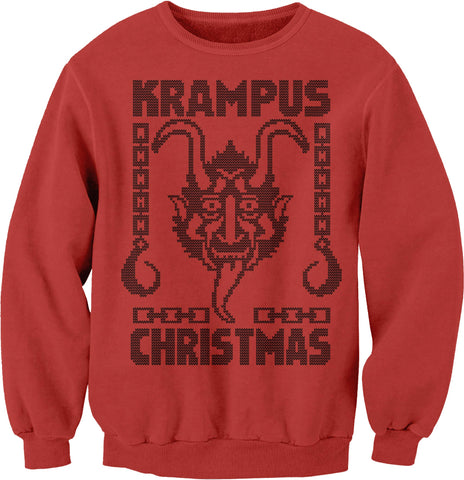 "Krampus Christmas - ""HOOKS""  Ugly Christmas Sweater"