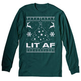 Lit AF - Christmas Long Sleeve Shirt