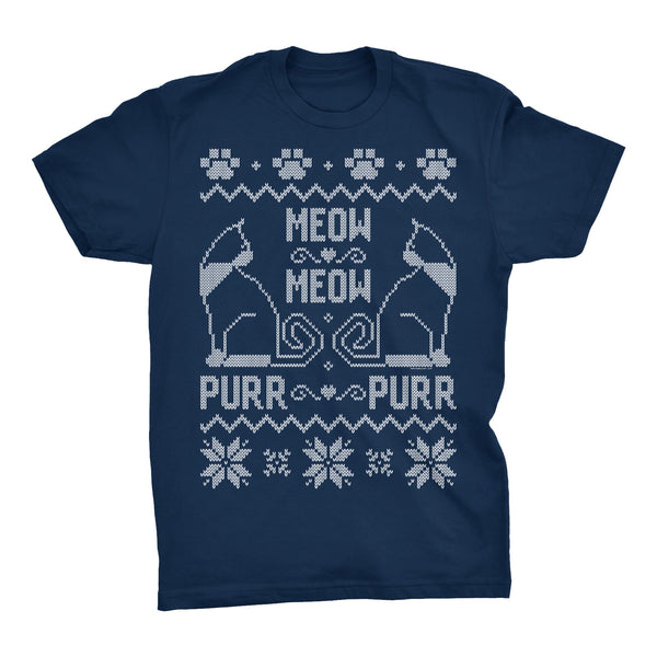 Meow Meow Purr Purr - Cat Christmas Sweater Gift - T-Shirt