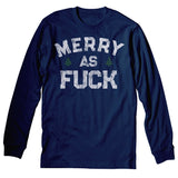 Merry AF 001 - Christmas Long Sleeve Shirt