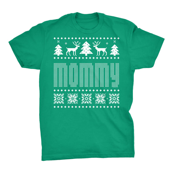 Mommy - Mom Christmas Sweater Style Gift-T-Shirt