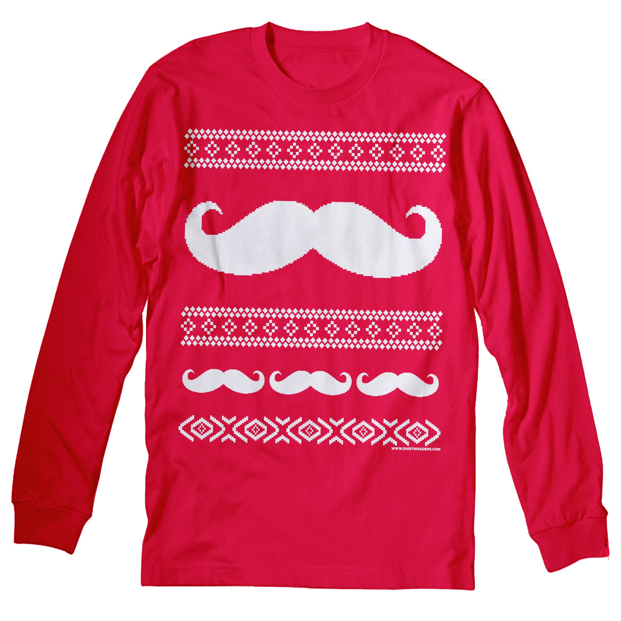 Mustache Sweater - Christmas Long Sleeve Shirt