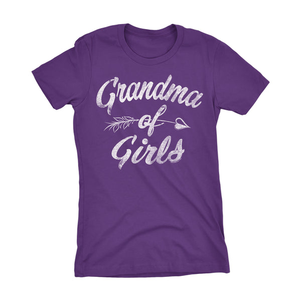 GRANDMA Of Girls - Mother's Day Grandmother Ladies Fit T-shirt