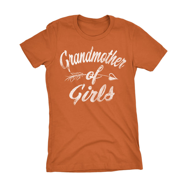 GRANDMOTHER Of Girls - Mother's Day Grandma Ladies Fit T-shirt