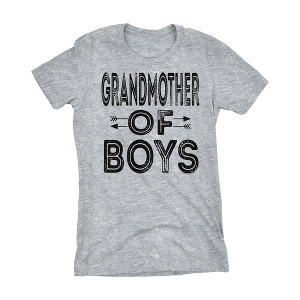 GRANDMOTHER Of Boys - Mother's Day Grandson Ladies Fit T-shirt