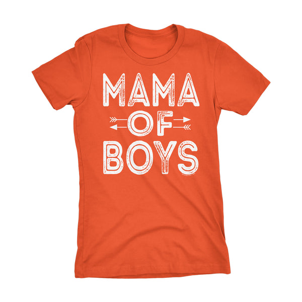 MAMA Of Boys - Mother's Day Mom Son Ladies Fit T-shirt