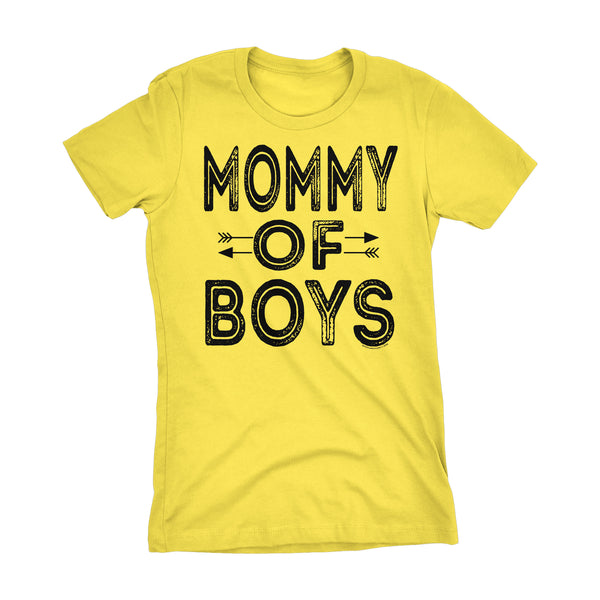 MOMMY Of Boys - Mother's Day Mom Son Ladies Fit T-shirt