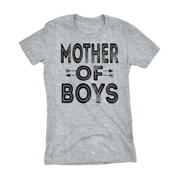 MOTHER Of Boys - Mother's Day Mom Son Ladies Fit T-shirt