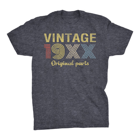 Retro Birthday - Vintage 19XX Original Parts - Choose The Date