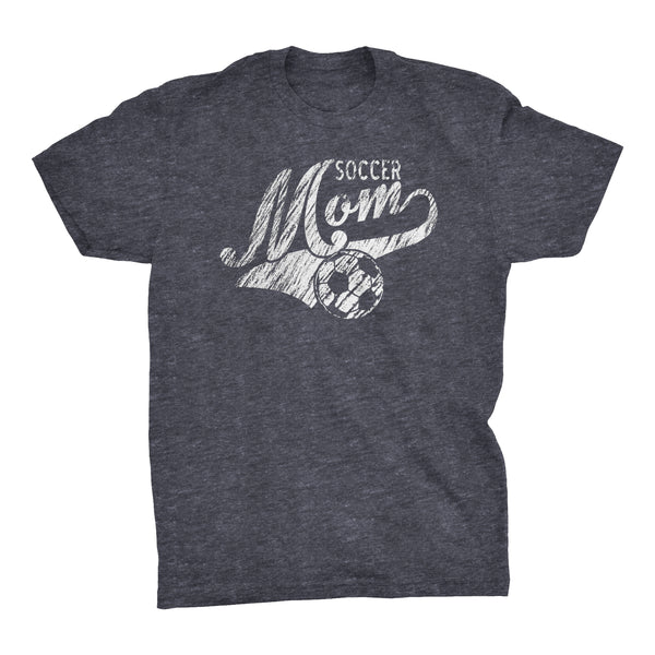 Soccer Mom Sports Tail - Simulated Chalk Distress - Soccer Mom T-shirt