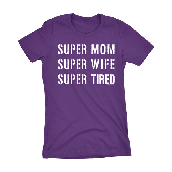 Super MOM - Mother's Day Gift Mom Wife Ladies Fitted T-shirt
