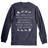 He Sees You STITCH - Christmas Long Sleeve Shirt