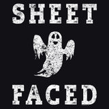 Sheet Faced - Funny Halloween Costume Party - 001 - T-Shirt