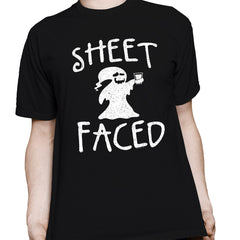 Sheet Faced - Funny Halloween Costume Party - 002 - T-Shirt
