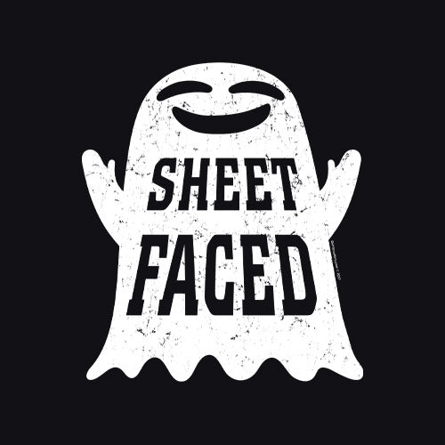 Sheet Faced - Funny Halloween Costume Party - 003 - T-Shirt