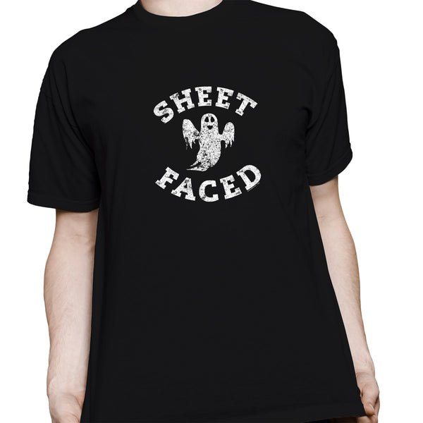 Sheet Faced - Funny Halloween Costume Party - 004 - T-Shirt