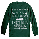 Merry Christmas Shitter's Full - RV CAMPER - Ugly Sweater-Long Sleeve