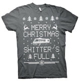 Merry Christmas Shitter's Full - RV CAMPER - Ugly Sweater-T-Shirt
