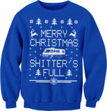 Merry Christmas Shitter's Full - RV CAMPER - Ugly Sweater-Sweat Shirt